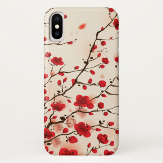 Blossom Oriental Style Painting | Add Photo iPhone X Case