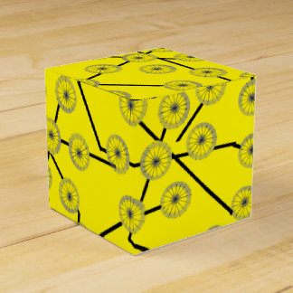 BLOSSOM PATTERN  yellow Party Favour Boxes
