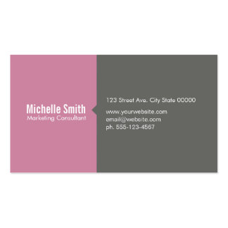 Blossom Pink & Grey Pack Of Standard Business Cards