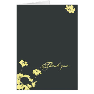 Blossom Silhouette Thank You Card