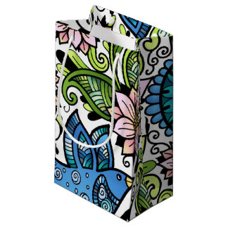 Blossom Spring _Chirping Birds and Flowers_Gift Small Gift Bag