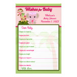 Blossom Tails Baby Shower Wishes for Baby Advice Full Color Flyer