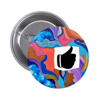 Blossom Thumbs Up 6 Cm Round Badge