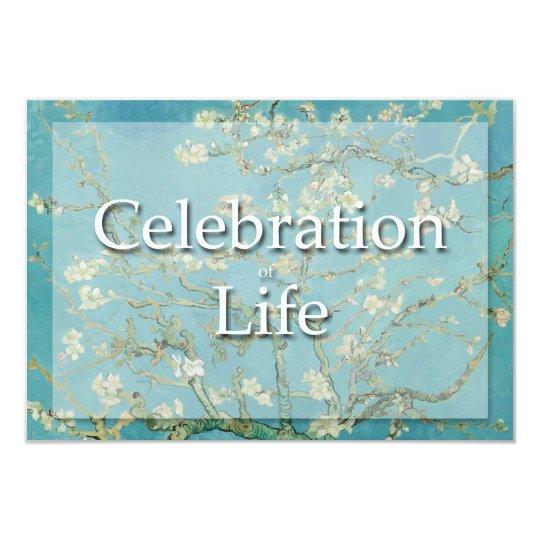 Blossom Van Gogh Celebration Funeral Announcement