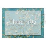 Blossom Van Gogh Sympathy Thank You Note card -