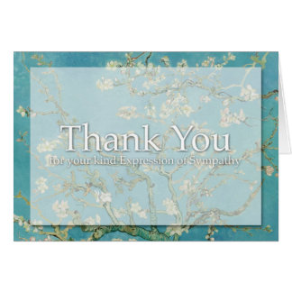 Blossom Van Gogh Sympathy Thank You Note card