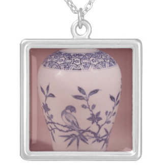 Blossom vase, Ming dynasty Silver Plated Necklace