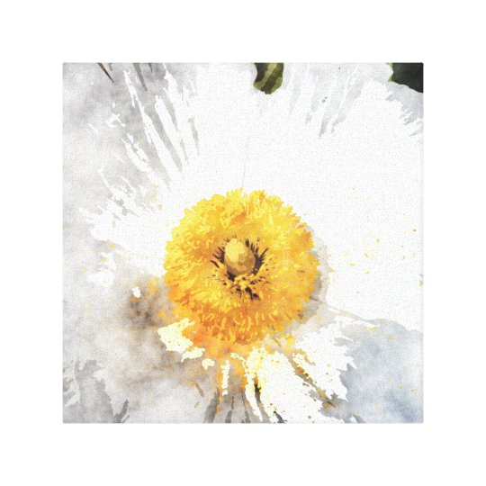 'Blossom' Watercolour Effect Flower Canvas Print
