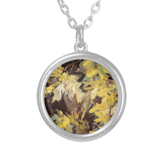 Blossoming Acacia Branches Vincent van Gogh. Silver Plated Necklace