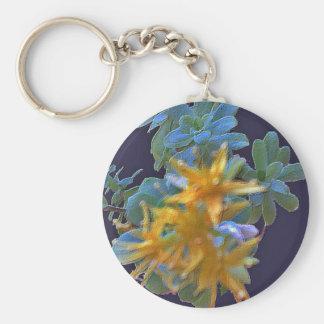 Blossoming Aeonium Key Chain