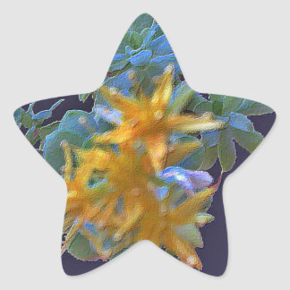 Blossoming Aeonium Star Sticker