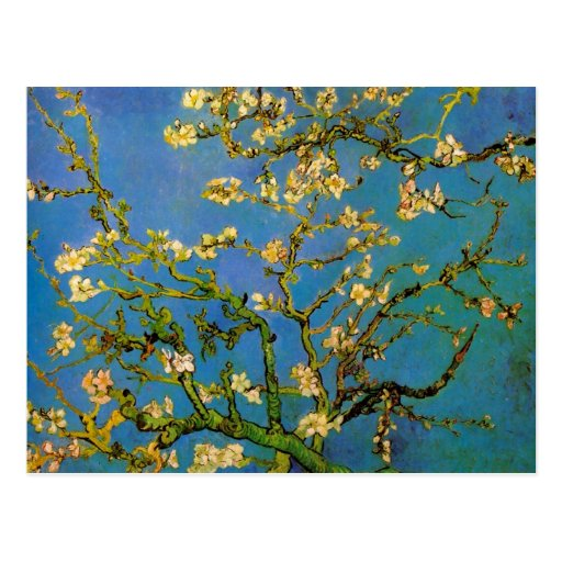 Blossoming Almond Tree by Van Gogh, Vintage Flower Post Card