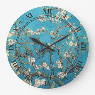 Blossoming Almond Tree by Vincent van Gogh Clock