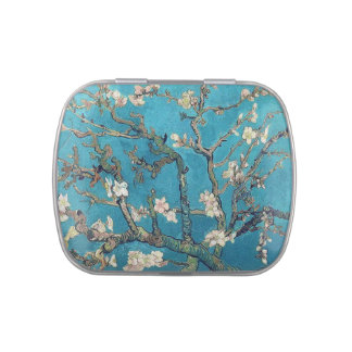 Blossoming Almond Tree by Vincent van Gogh Jelly Belly Candy Tin