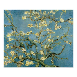 Blossoming Almond Tree Post-Impressionist Poster
