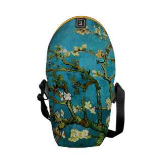 Blossoming Almond Tree Van Gogh Fine Art Messenger Bags