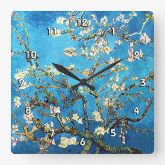 Blossoming Almond Tree Van Gogh Fine Art Wall Clocks