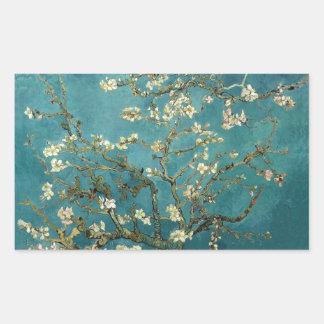 Blossoming Almond Tree - Van Gogh Rectangular Sticker