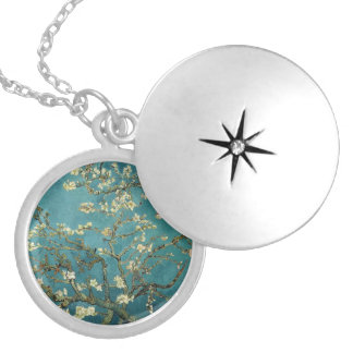 Blossoming Almond Tree - Van Gogh Round Locket Necklace