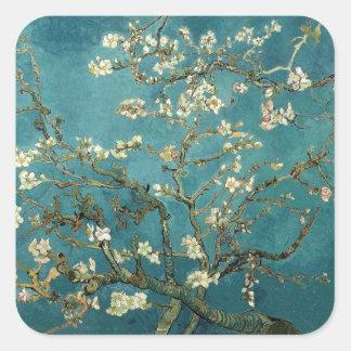 Blossoming Almond Tree - Van Gogh Square Sticker