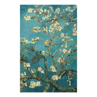 Blossoming Almond Tree, Vincent van Gogh. Personalized Flyer