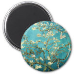 Blossoming Almond Tree - Vincent Van Gogh 6 Cm Round Magnet