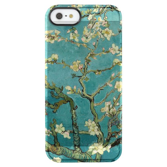 Blossoming Almond Tree Vintage Floral Van Gogh Clear