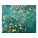 Blossoming Almond Tree Vintage Floral Van Gogh Poster