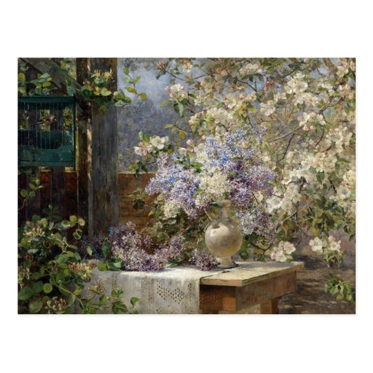 Blossoming Bower by Egner Postcard