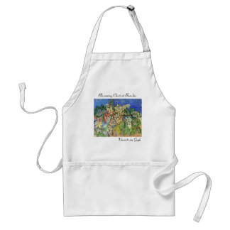 Blossoming Chestnut Branches Adult Apron
