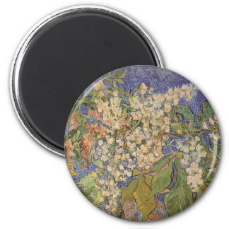 Blossoming Chestnut Branches by Vincent van Gogh 6 Cm Round Magnet