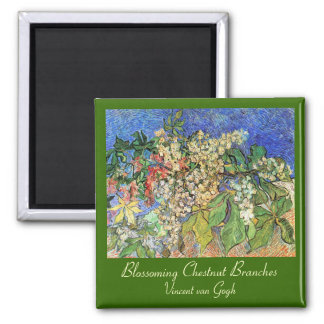 Blossoming Chestnut Branches Fridge Magnets
