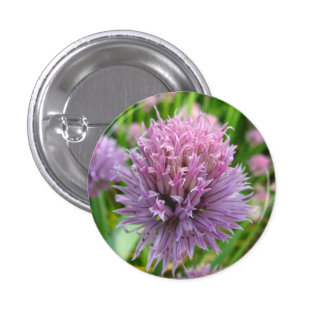 Blossoming Chives Button