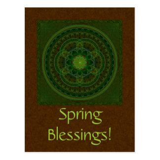 Blossoming Green Kaleidoscope Postcard