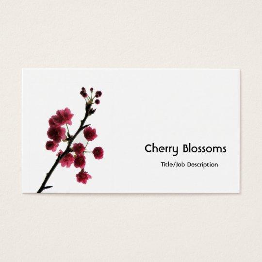 Blossoming Joy/Red Sakura Business Card