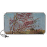 Blossoming red almond Tree Laptop Speakers