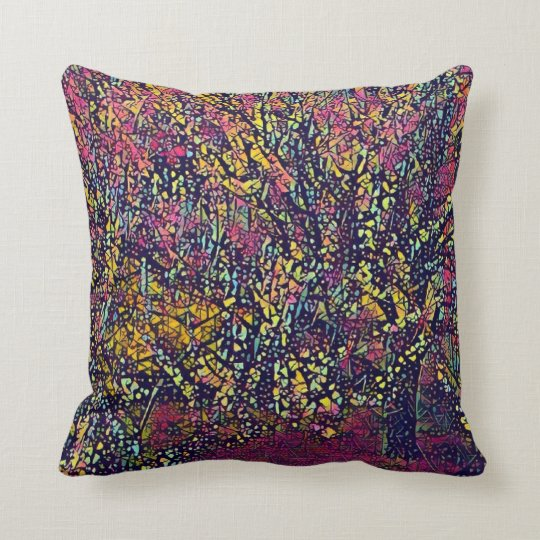 Blossoming Tree Stylised Throw Pillow