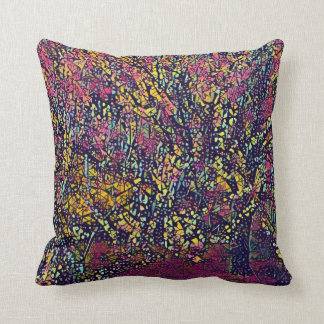 Blossoming Tree Stylized Throw Pillow