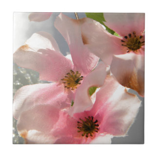 Blossoms and Crystal Ceramic Tile