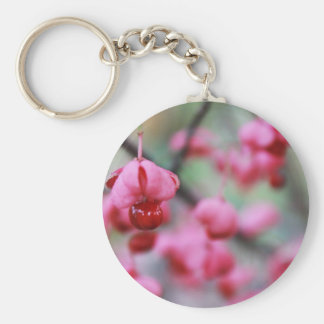 Blossoms Basic Round Button Key Ring