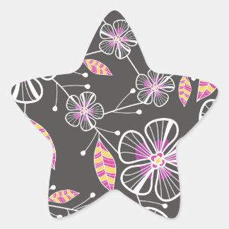 Blossoms & Bouquet Floral Star Sticker