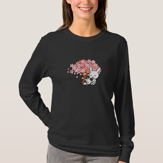 Blossoms Cherry Tree Bunny Destiny Park Love Peace T-Shirt