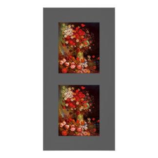 Blossoms Gogh Flowers Vase Vines Vintage Destiny