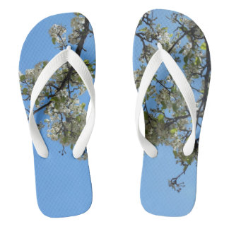 Blossoms in the Sky Flip Flops