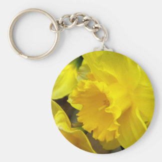 Blossoms Left Basic Round Button Key Ring