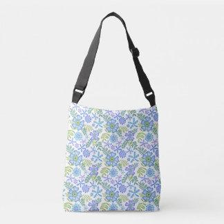 Blossoms of Blue Crossbody Bag