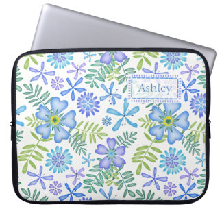 Blossoms of Blue Laptop Sleeve