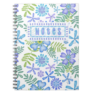 Blossoms of Blue Notebooks