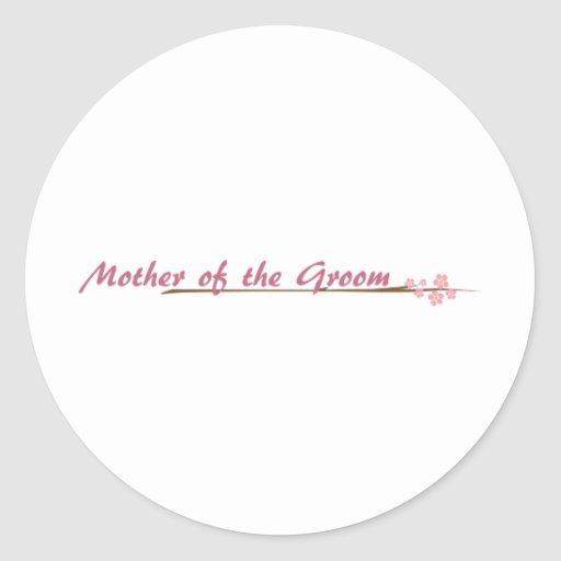 Blossoms So Sweet Mother of the Groom Round Stickers