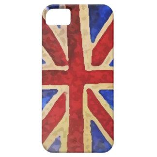 Blotch Effect Union Jack iPhone 5 Case